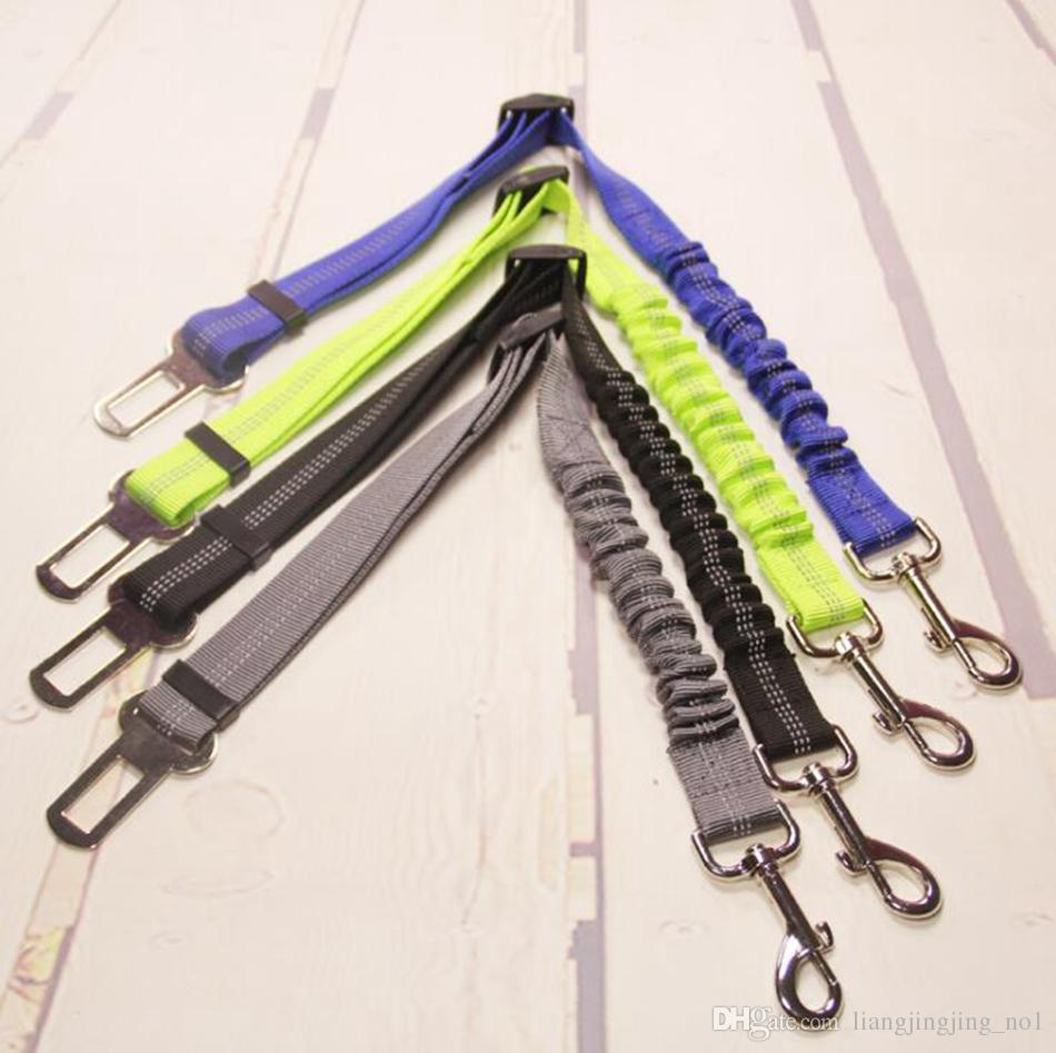 Pet Dog Safety Vehicle Car Seat Belt Elastic Reflective Dog Seatbelt Harness Lead Leash Clip Levert OOA5009