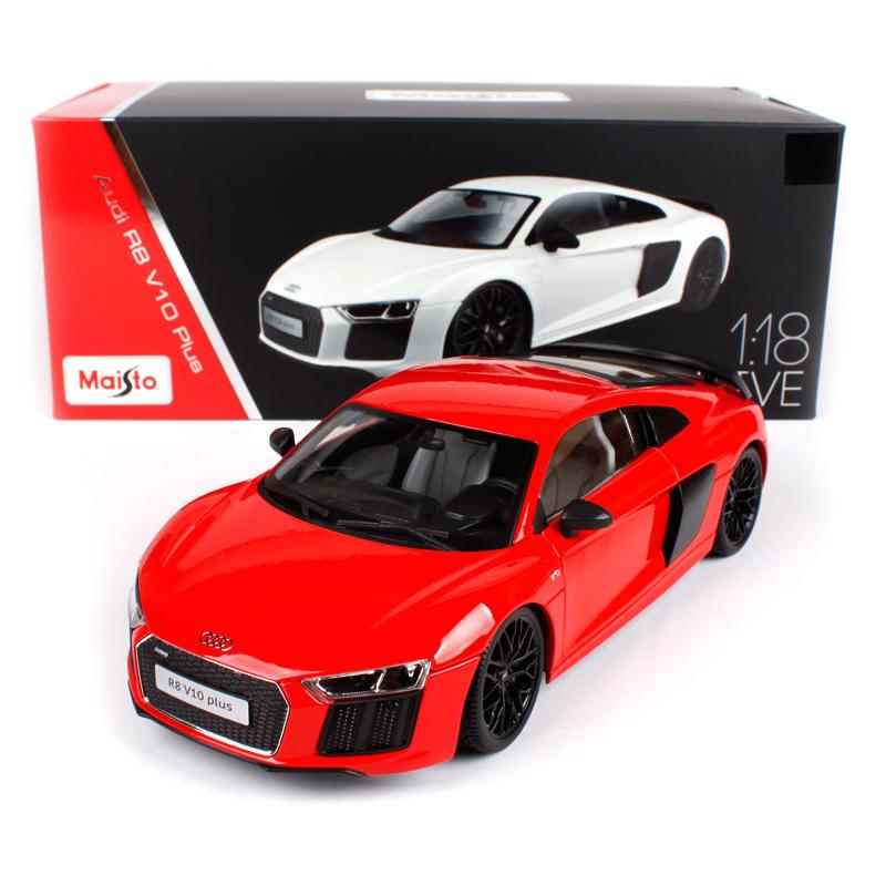 2019 Maisto 118 Audi R8 V10 Plus Sports Car Hardback Diecast Model