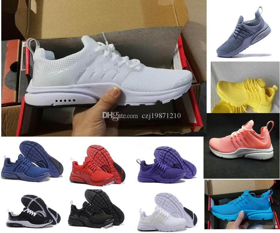 newest 7fa79 b6f8f 2018 Prestos 5 Casual Shoes Men Women Presto Ultra BR QS Yellow Pink Oreo  Outdoor Fashion Jogging Sneakers Size US 5.5 11 Geox Shoes Cheap Shoes For  Women ...