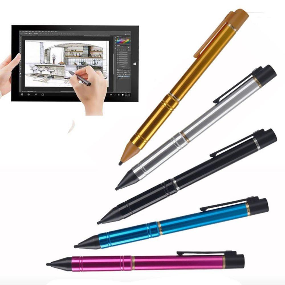 5dfcd804e Compre Ativo Capacitivo Touch Screen Caneta Stylus Universal 2.3mm Ponta  Fina Built In De Carregamento Usb Bateria Para Ipad Tablet Android Iphone  De ...