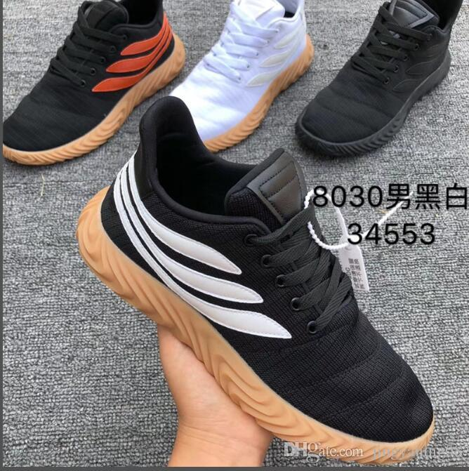 5c6266002 Compre 2019 450 Zapatillas De Running Negro Blanco Goma Naranja Gamuza  Caucho Crudo Zapatos De Corredor Casual Zapatillas De Deporte De Alta  Calidad Para ...