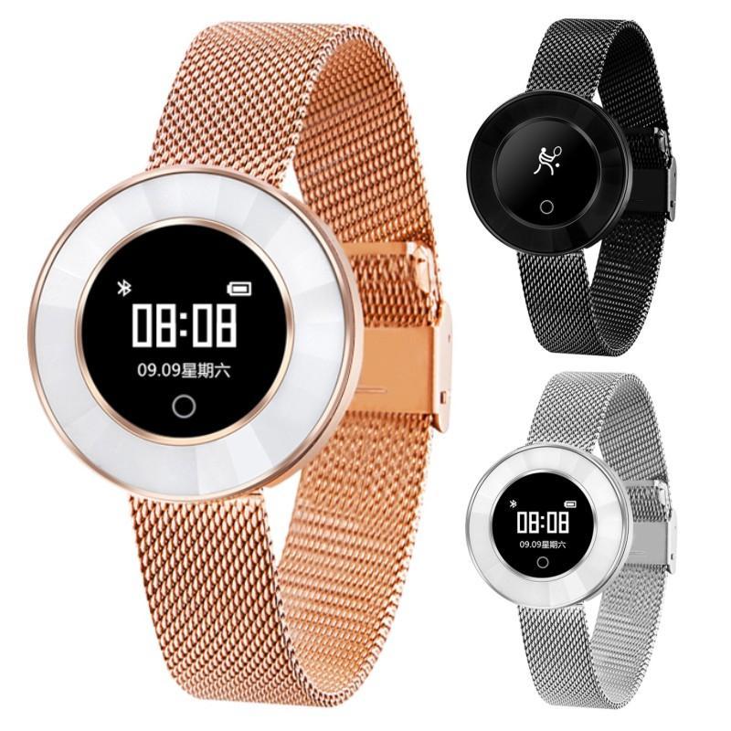 Mejor Reloj Inteligente Microwear X6 Fashion Smart Watch Mujeres Rastreador De  Fitness Pulsera Inteligente Frecuencia Cardíaca Presión Arterial IP68 A ... b000b8b4fa3a
