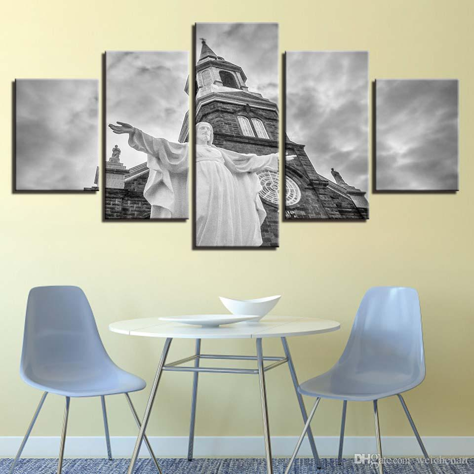 Canvas Paintings Living Room Wall Art Framework Christ Jesus Church Pictures HD Prints Christianity Posters Home Decor