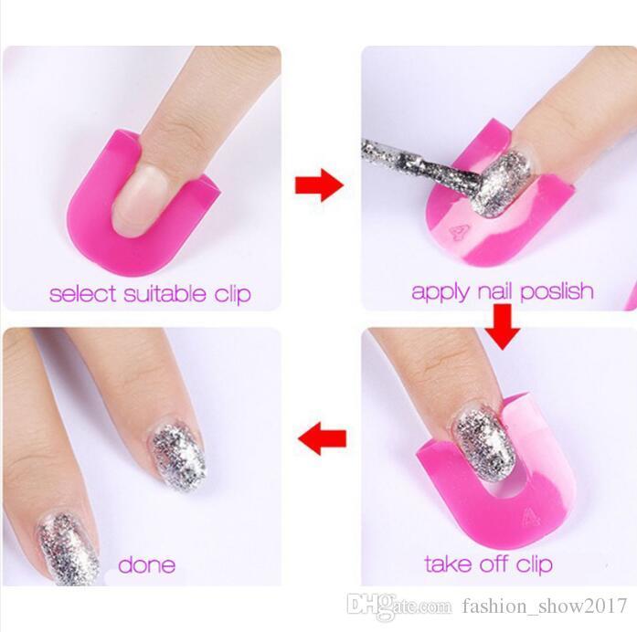 Nail Art / Paquet protecteur polonais Outils Creative manucure doigts de couverture résistant aux éclaboussures ongles gel protecteur polonais