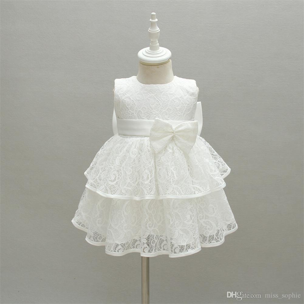 464042f42 Baby Girl Christening Baptism Gowns Toddler Princess Wedding Special ...