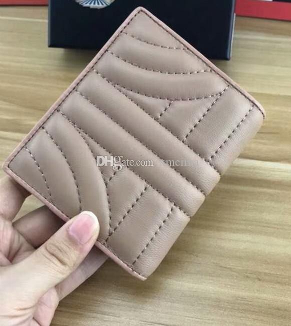 Casual short style wallet lady fresh letter P Square wallets Genuine Leather Free Shipping