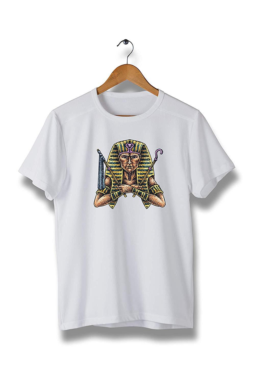 Colorful Big Pharaoh Egypt T-Shirt, Modern Tees for Men (Y36)