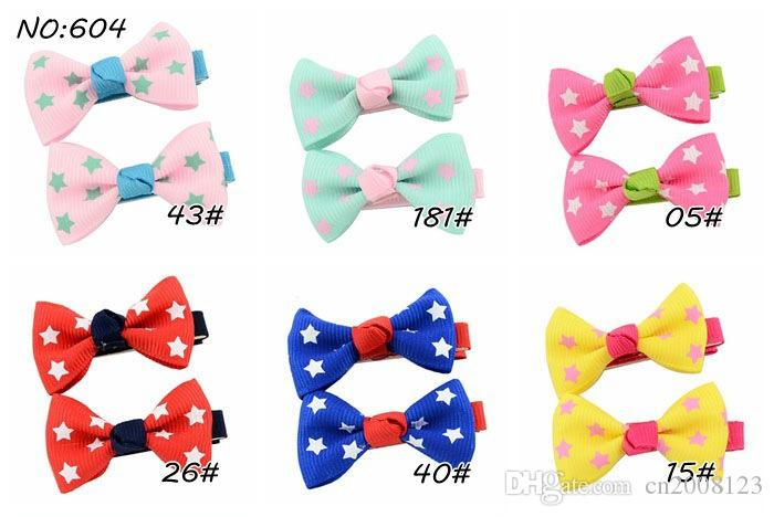 4.5cm Bowknot Baby Hairpins Mini Hair Barrettes Bows Clips For Girls Kids Toddlers Teens Barrettes BY791