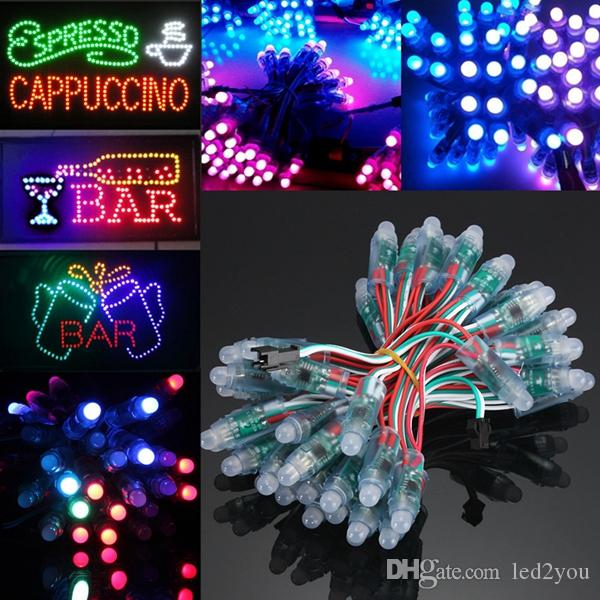 WS2811 Led Pixel Module IC 1903 12mm IP65 Waterproof DC5V Full Color RGB String Christmas LED Light Addressable