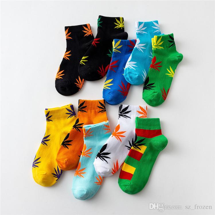 Kids christmas plantlife socks high quality cotton socks skateboard hiphop maple leaf sport socks wholesale A-602