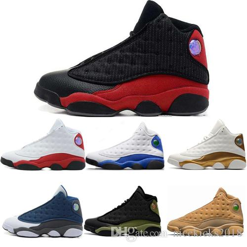 Billig Beste Klassische Herren Basketball Schuhe 13 13 s GS Hyper Royal Italien Blau Chicago Bred DMP Wheat Olive Ivory Black Cat Herren Sport Turnschuhe