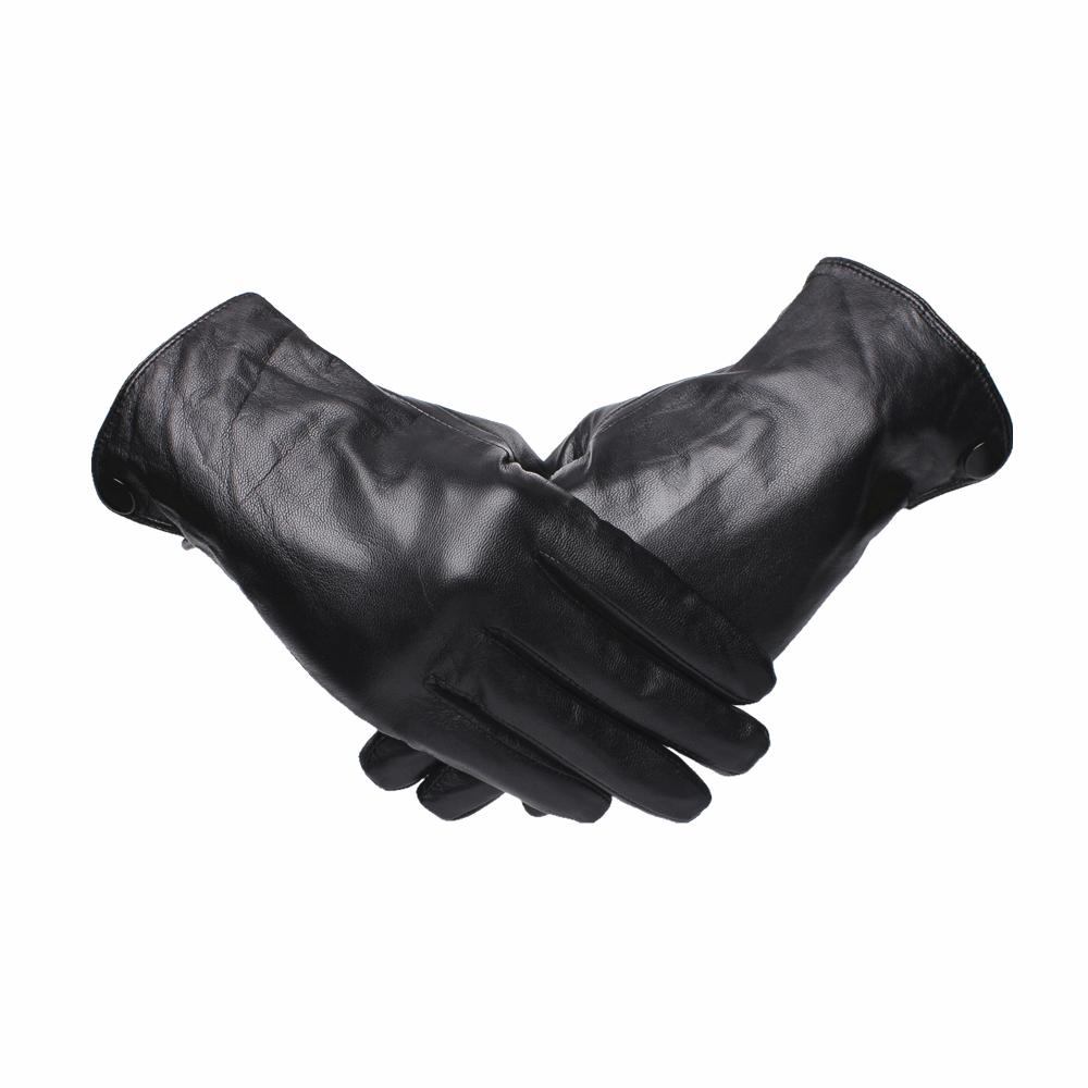 96f65efc91c3b 2019 Gours Genuine Leather Gloves For Men Fashion Brand Black Goatskin  Finger Button Gloves Driving Warm In Thick Winter New GSM044 From  Green_home, ...