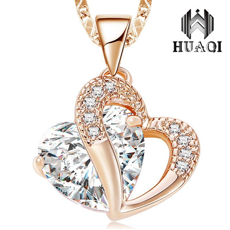 441b8bd4bf29 DOTSHE Pendant Necklaces For Women Fashion Simple Stereoscopic Heart ...