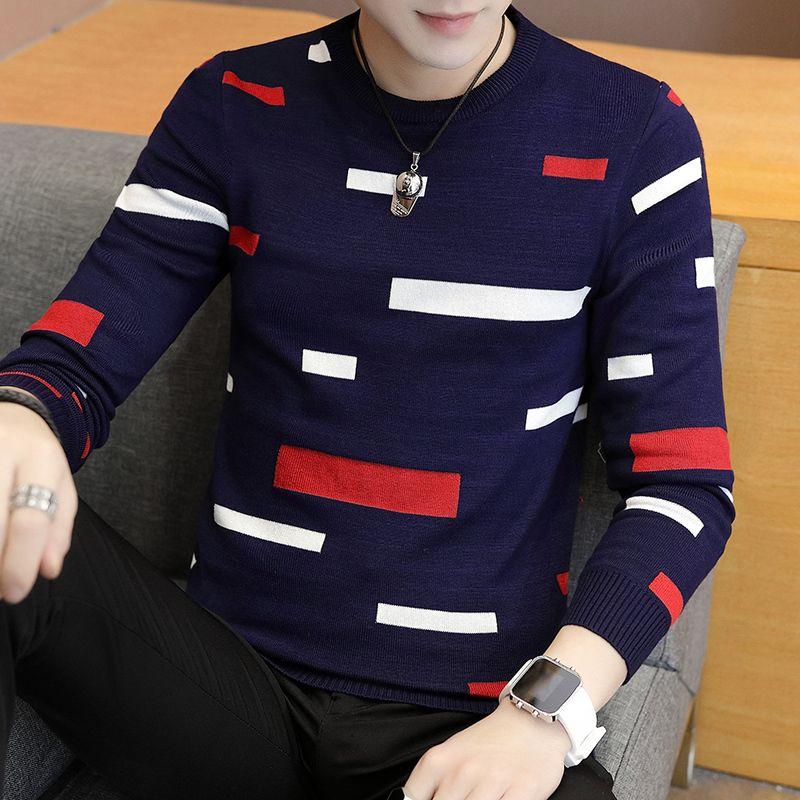 Großhandel 2018 Neue Winter Casual Dicker Pullover Männer Rundhals Slim Fit  Gestrickte Marke Weihnachten Pullover Mode Warme Herren Pullover My917 Von  ... 7cba246561