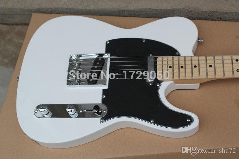 Chinese musical Instruments Factory custom 2015 New white TL electric guitar black Pick Guard 412asd