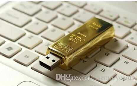 100 % 진짜 용량 골드 바 펜 드라이브 2 기가 바이트 4 기가 바이트 8 기가 바이트 32 기가 바이트 64 기가 바이트 USB 플래시 드라이브 메모리 스틱 OPP 포장 01