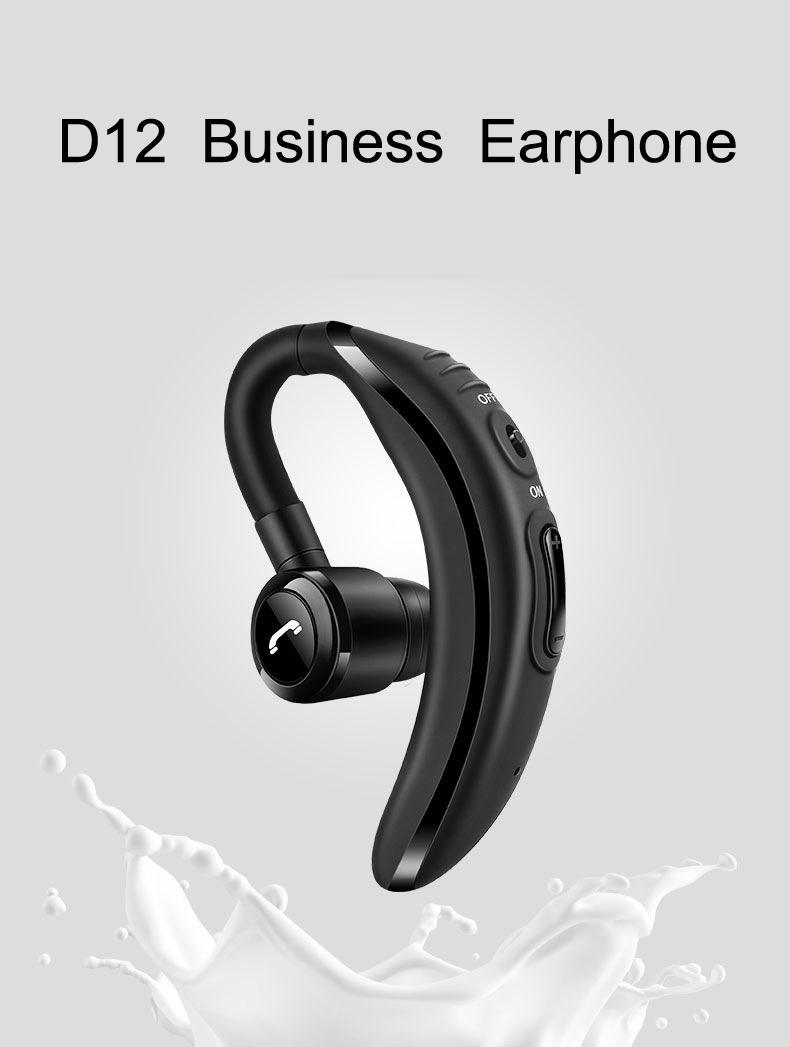 Moloke D12 Bluetooth Earphones Handfree Headphone Earhook Business Work Mode Headset With Microphone Phone Wireless Headphone Audifonos Wireless Tv Headphones Best Headphones For Running From Meiladyjun 31 16 Dhgate Com