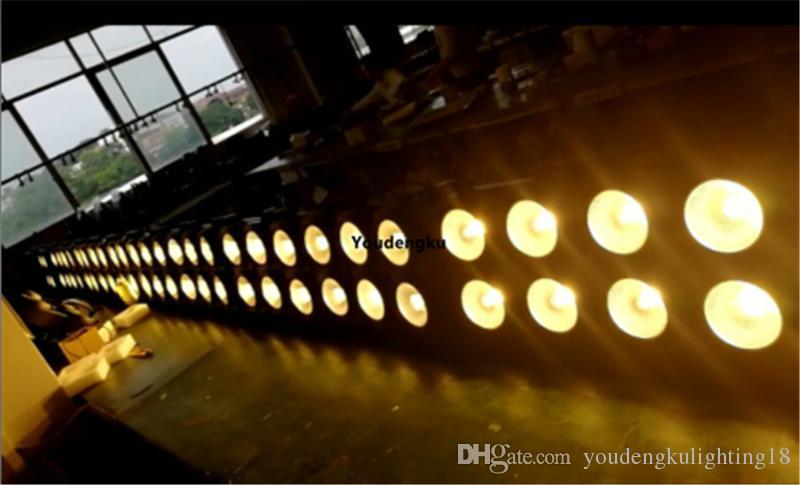 Powercon decoration dj 4x100w blinder matrix cob stage lighting led blinder cob 4 eyes