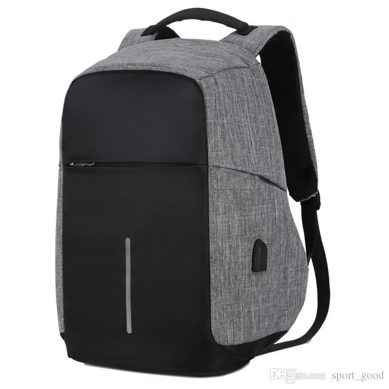 2992ca3780dd8 Großhandel Neueste Computer Laptop USB Lade Rucksack Schultasche Pack  Erwachsenen Student Tasche Business Rucksack Männlichen Unisex Wasserdichte  ...
