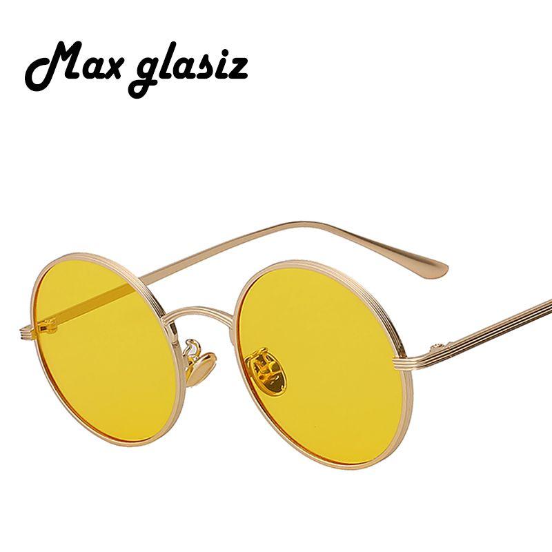 91292fe3d Vintage Sunglasses Women Retro Round Glasses Yellow Lense Metal Frame Glasses  Eyewear Heart Sunglasses Circle Sunglasses From Super02, $3.35| DHgate.Com