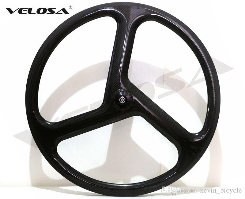 5c42980d987 Velosa 2017 NEW 3 Spoke Carbon Wheel/Tri Spoke Wheel For Road/Track/Triathlon/TT  Bike 40mm Clincher 3 Spoke Wheel 700c Bike Wheels Aero Bike Wheels From ...