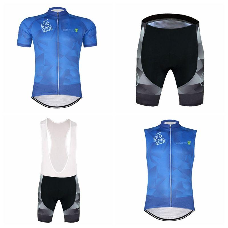 TOUR DE DUBAI Team Cycling Short Sleeves Jersey Bib Shorts Sleeveless Vest  Sets Summer Discount Breathable Quick Drying Bike Sets Q50526 TOUR DE DUBAI  ... 239cc66fc