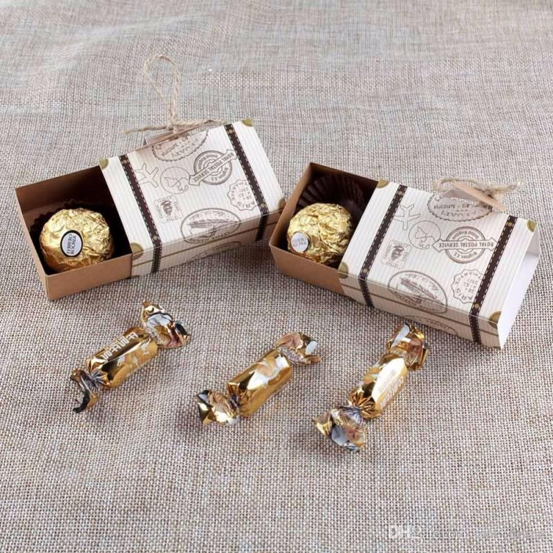 Wedding Favor Chocolate Boxes Vintage Mini Suitcase Candy Box Sweet