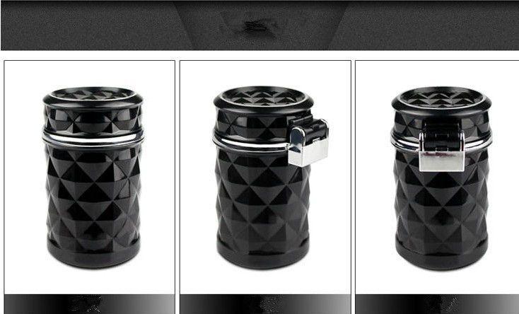Fashion Car Ashtray Truck LED Light Cigarette Smoke Cigar Cendrier Ashtray Cenicero Cinzeiro Ceniceros Asbak Ash Cylinder Cup Holder