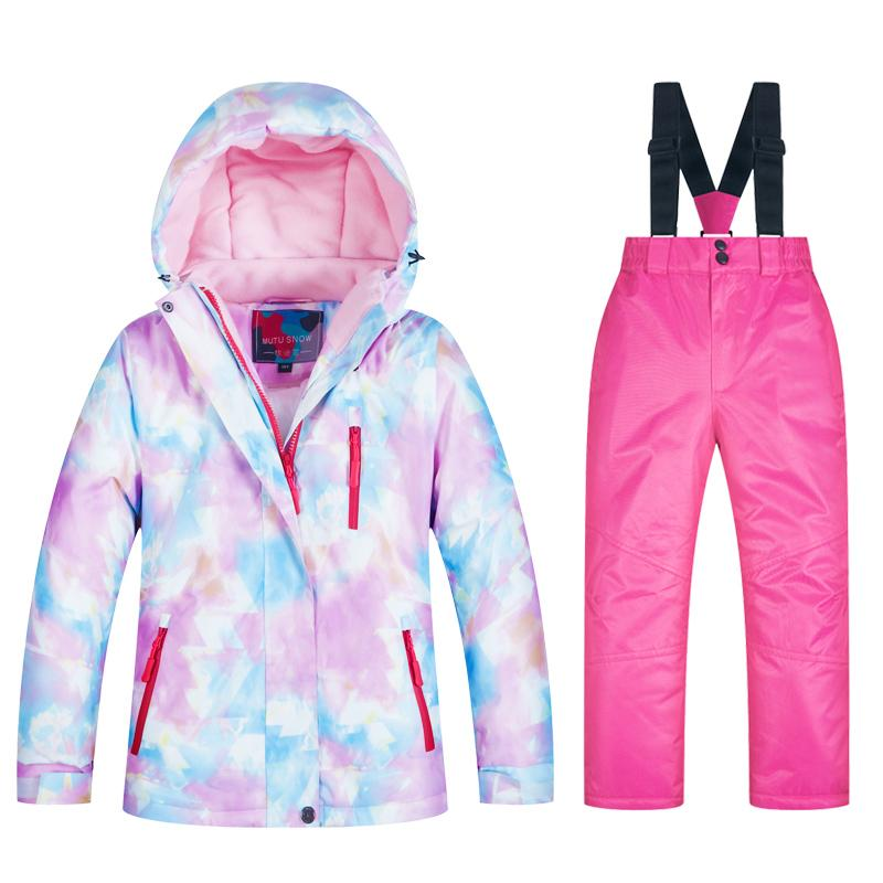 buy popular 99183 2b6d9 Neue Kinder Skianzüge Winter Kinder Jacke Und Hose Wasserdichte Schneejacke  Für Mädchen Marken Skifahren Und Snowboarding Kleidung