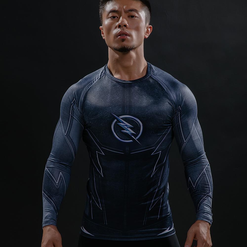 Acheter ZOOM 3D Imprimé T Shirts Hommes Raglan À Manches Longues Compression  Shirt Flash Cosplay Costume Crossfit Fitness Vêtements Tops Mâle De  40.83  Du ... 1b4c26cae90