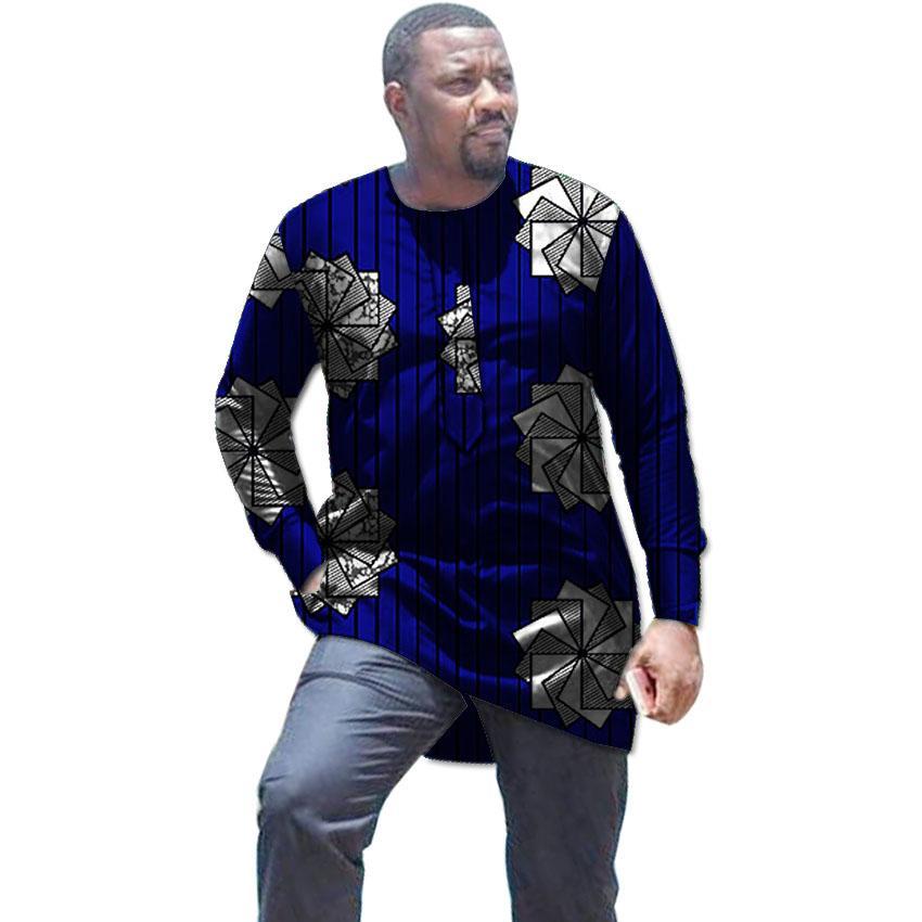 d5300d5cf Compre Camisa Africano Para Homens Casual Dashiki Tops Ancara Impressão Roupas  Masculinas Para O Casamento Africano Moda Masculina Do Equipamento De  Hermanw ...