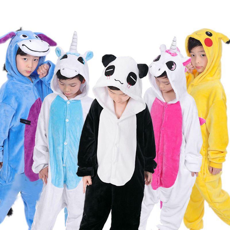 c0863534a 2018 New Baby Boys Girls Pajamas Spring Children Coral Fleece Cute ...
