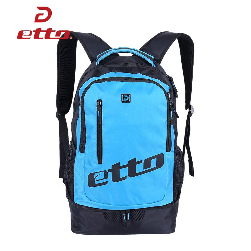 3d324546f8ea 2019 Etto Waterproof Soccer Basketball Team Training Bag Men Women Sports  Backpack With Bottom Independent Shoes Compartment HAB070 From Hcaihong