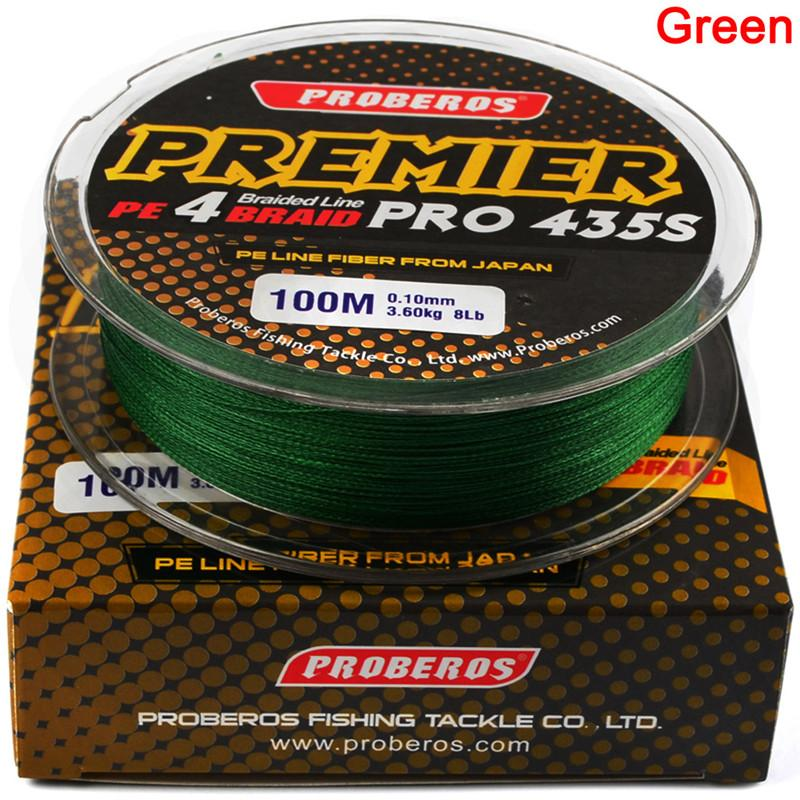 PREMIER PRO 4 Strand Braid Line High strength Ocean fishing wire 100m PE Braided Fiber From Japan 20LB~100LB Message Colors