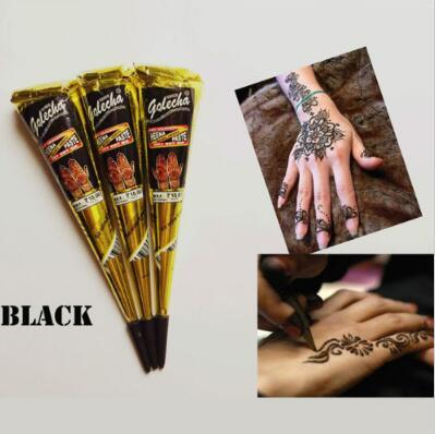 Black Indian Henna Tattoo Paste Body Art Paint Mini Natural Indian