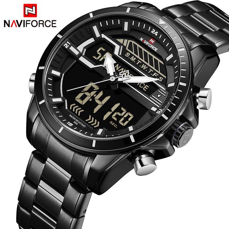 da320949f NAVIFORCE Mens Watches Top Luxury Brand Men Sport Watch Men's Quartz LED  Digital Clock Man Waterproof Army Military Wrist Watch S921