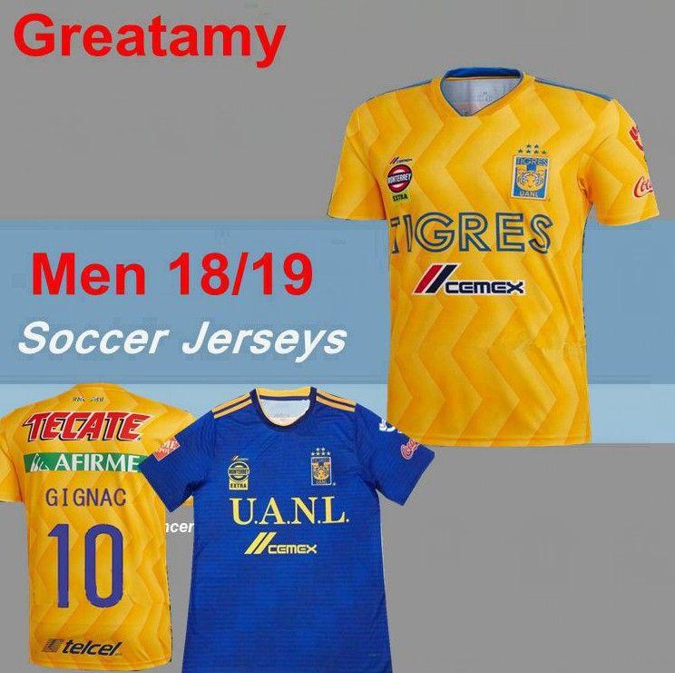 35e568cc7b5 2018 2019 Tigres UANL Soccer Jerseys Thai Quality 18 19 Mexico Club ...