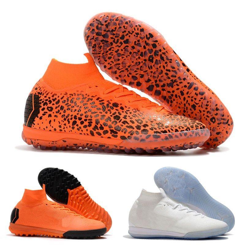Mens Kids Fashion CR7 Melhor Elite Ronaldo KJ VI 360 TF IC Soccer Shoes  Football Boot Mercurial Superfly Cristiano Women Socce Cleats UK 2019 From  ... 289db0e6ed