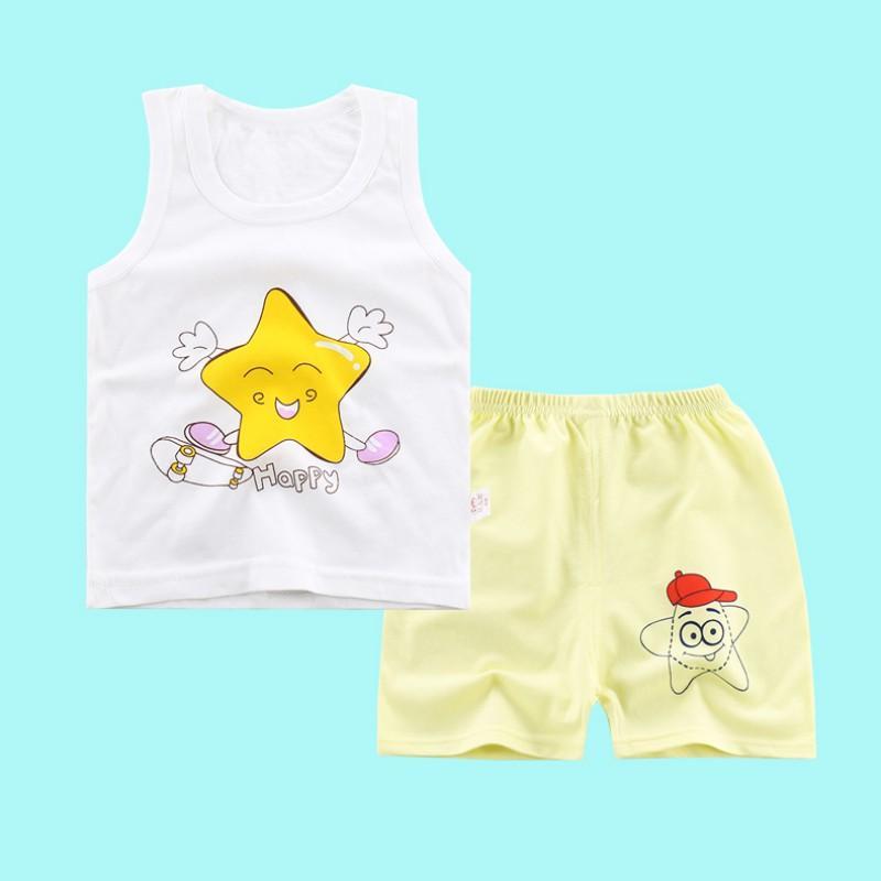 eeaa26f2c1b 2019 2018 Cute Baby Girl Boy Clothing Fashion Childrens T Shirt Summer  White Cotton Infant Cartoon Sleeveless Top + Short Pants Set From Orchidor