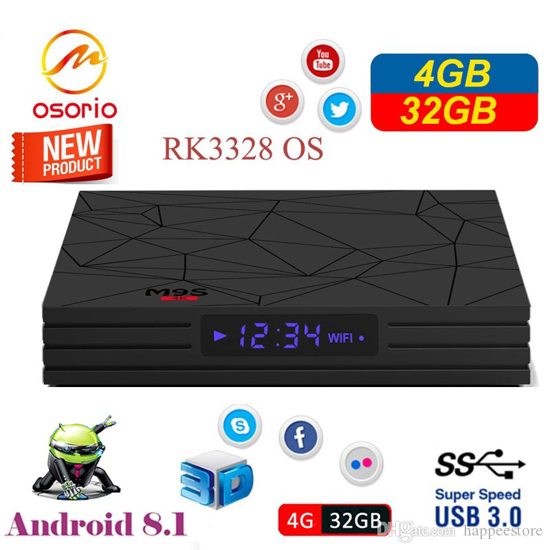 Hot M9S Y2 4GB DDR4 32GB TV BOX Android 8.1 RK3328 Quad Core Rockchip Smart BOX Support 4K H.265 HDR WIFI HDMI Streaming Media Player