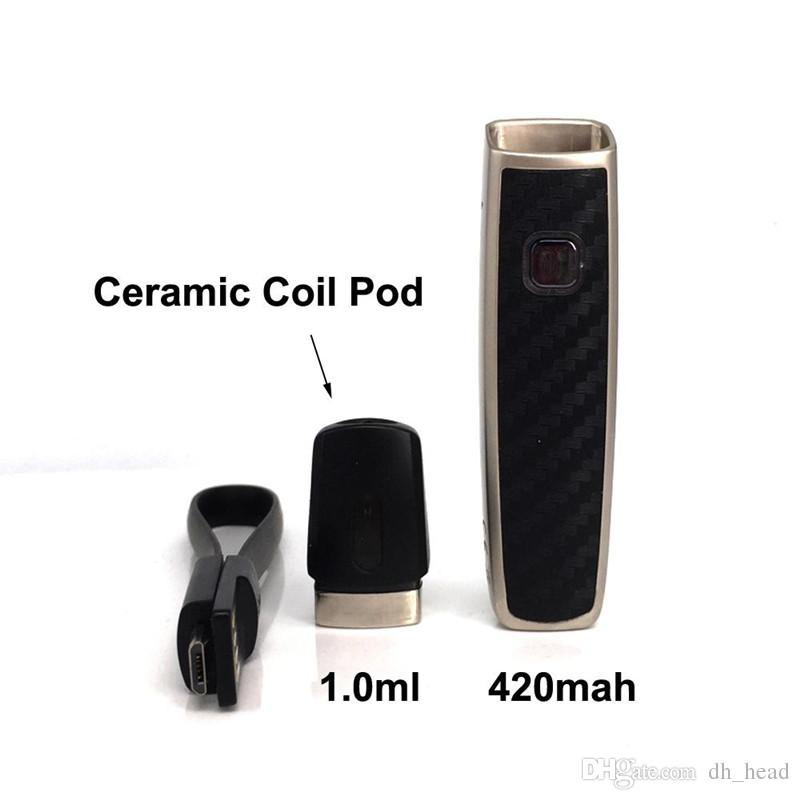 1ml Ceramic Coil Pods vaporizer pen cartridges vape pen Vaporizer pen with 420mAh VV box mods battery E Cig Starter kits