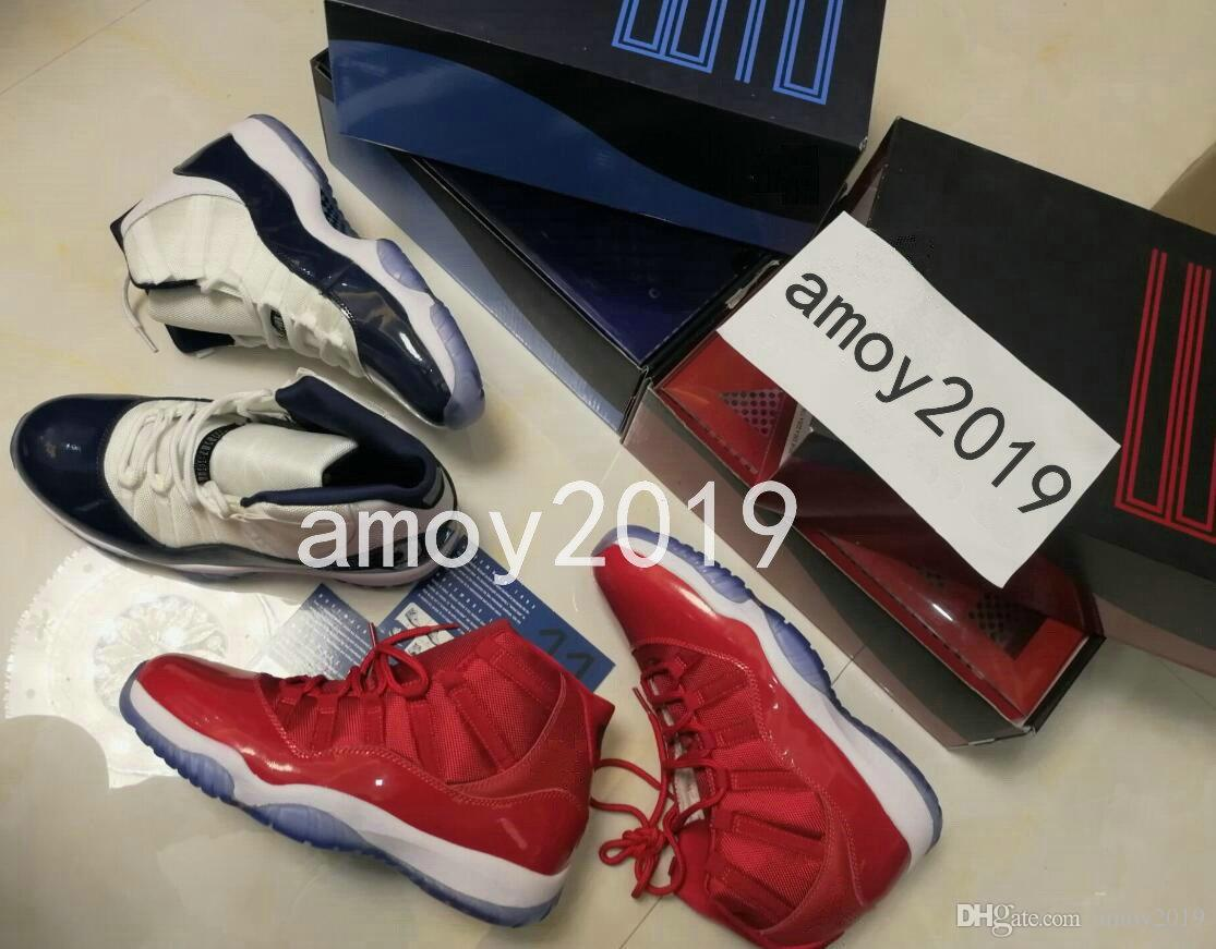 08f04ca72d8 2018 Win Like 82 96 Midnight Navy UNC Gym Red 11 Basketball Shoes Top  Quality Mens Trainers 11s Athletic Sports Sneakers Size 36-47 11 11s Gym  Shoes Online ...