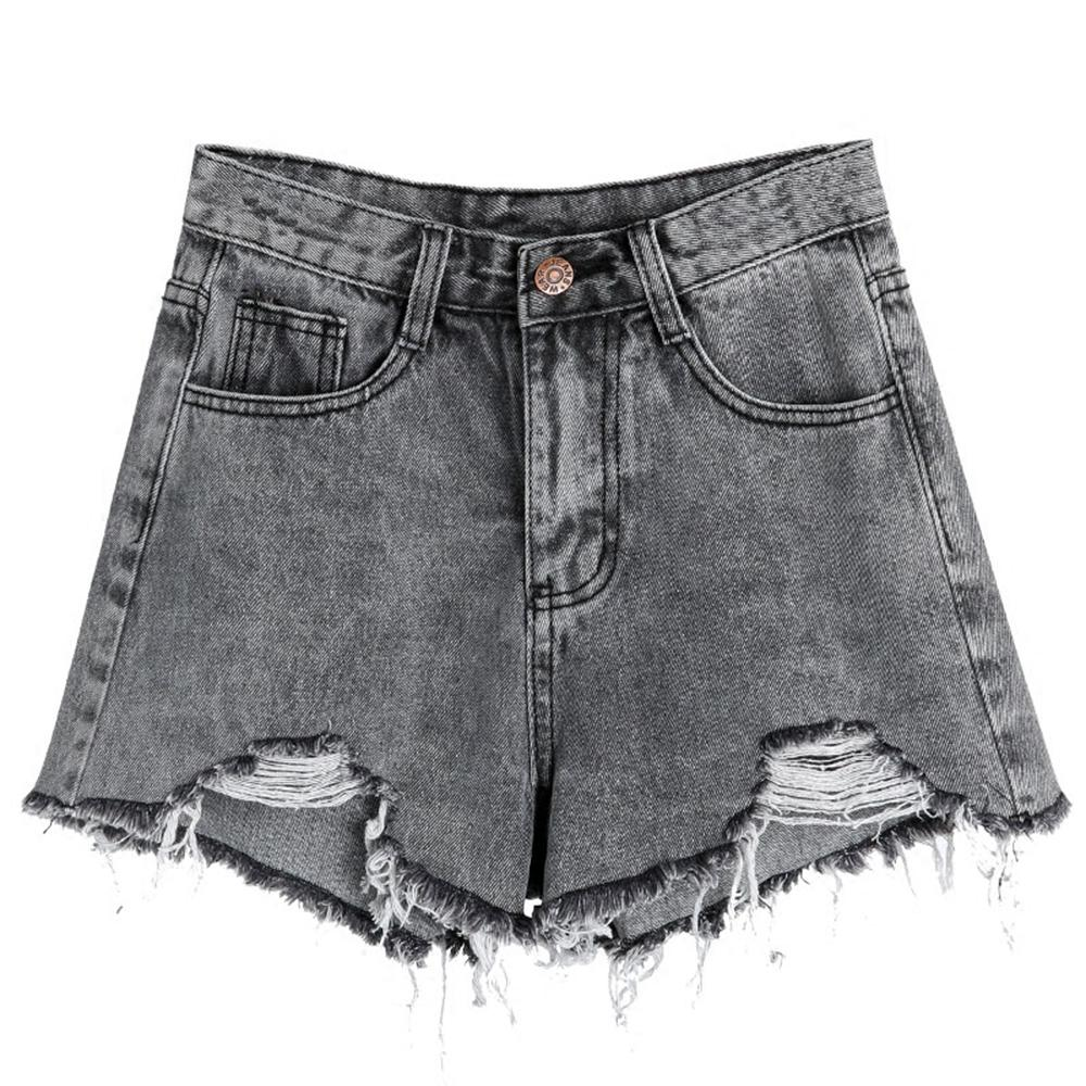 Black Jeans Shorts Women Denim High Waist Bodycon Ripped Shorts Ladies Rave  Short Sexy Pantaloncini Harajuku Hotpants 50K136 UK 2019 From Lookpack 09c626b31905
