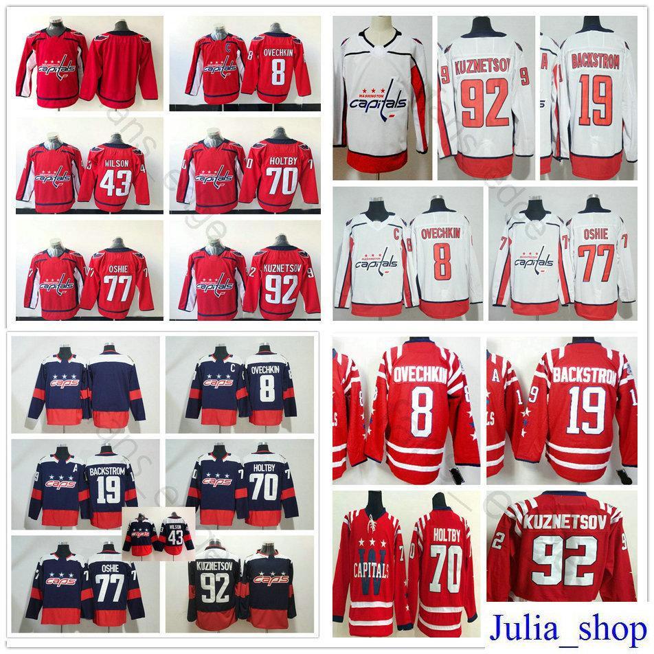4852d778f Man Woman Kids Youth Washington Capitals Hockey  8 Alex Ovechkin 19 ...
