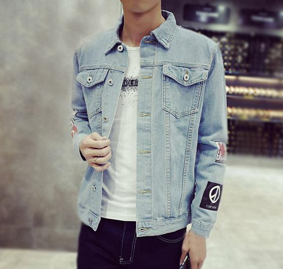 Otoño Chaqueta Estilo Jeans Abrigos Compre Coreano Para De Hombre F6w0CpCqT