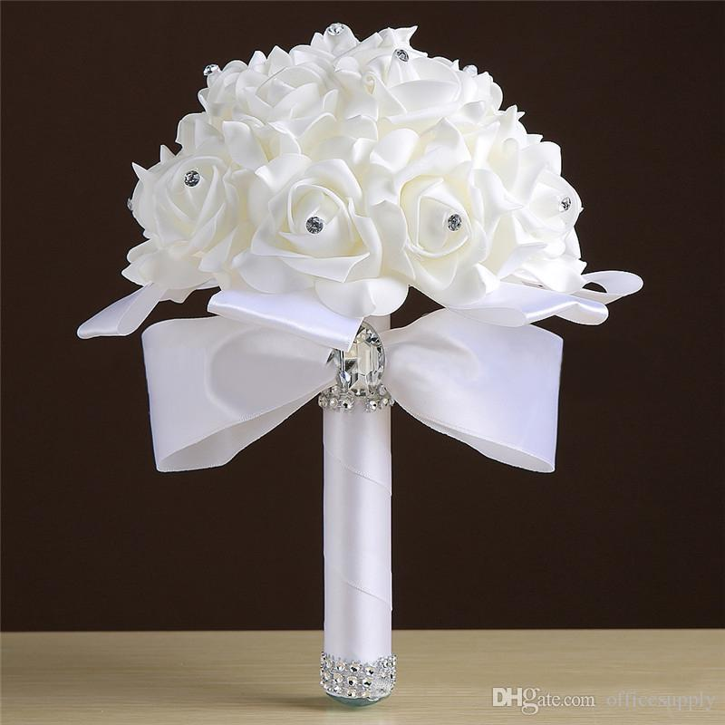 What Are Cheap Flowers For Weddings: 23*16cm Cheap Bridesmaid Wedding Decoration Foam Flowers