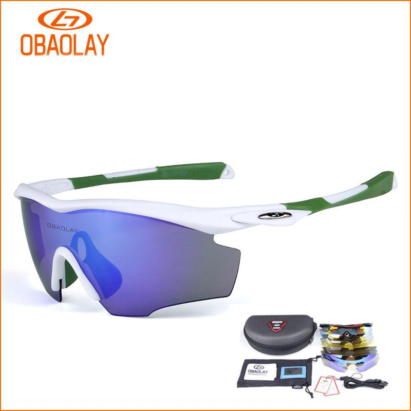 4ecce6a9a1e 2019 OBAOLAY Polarized Bicycle Glasses Men Women MTB Riding Bike Sunglasses  5Lens Outdoor Sport Windproof Eyewear Cycling Goggles From Huanbaoxin