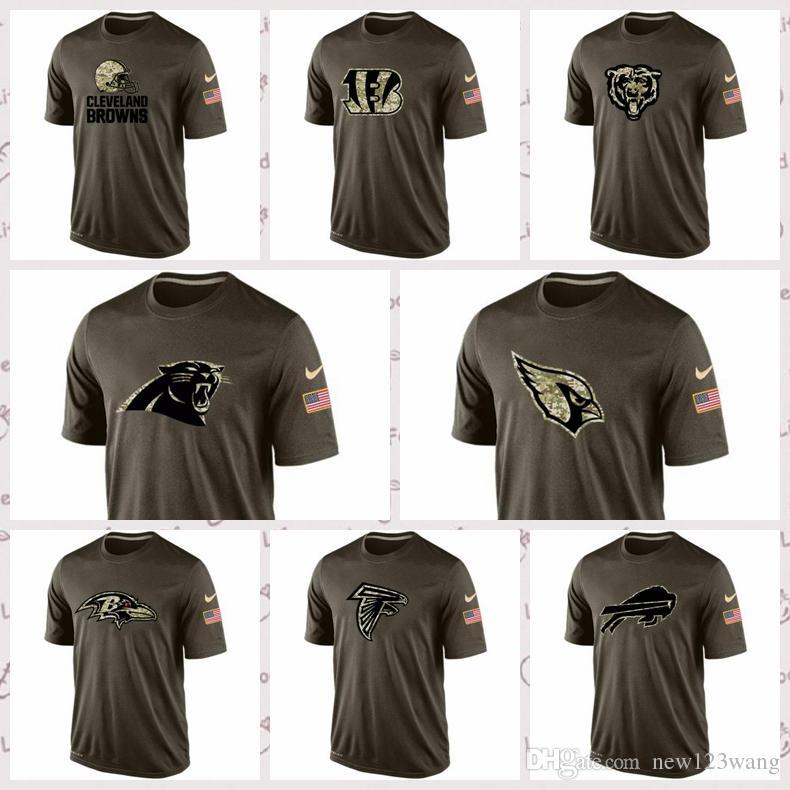sports shoes 5424b b3e45 Baltimore Ravens Buffalo Bills Carolina Panthers Chicago Bears Cincinnati  Bengals Cleveland Browns Salute To Service T-Shirt