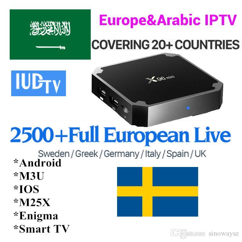 X96 mini IUDTV IPTV Costo 1 año Soporte VLC PC Android TV cuadro APK m3u  Smart Tv