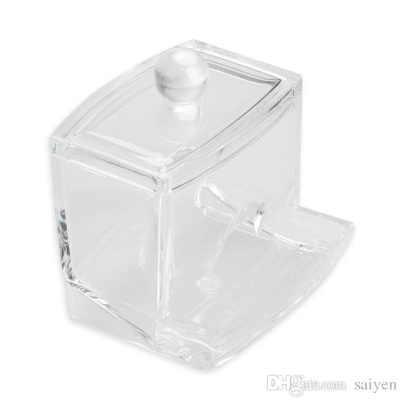 Wholesale  Clear Acrylic Cotton Swab Q Tip Storage Holder Box Cosmetic  Makeup Case Organizer 88 Hogard Acrylic Holder Cotton Clear Box Storage  Hogard Online ...